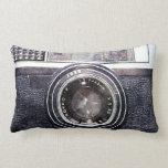 Old black camera throw pillow