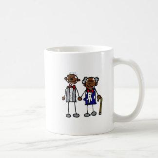 Old Black Gay Couple Classic White Coffee Mug