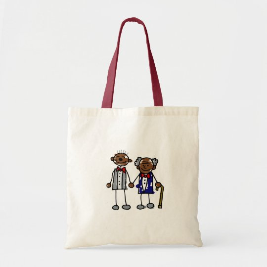 Old Black Gay Couple Tote Bag