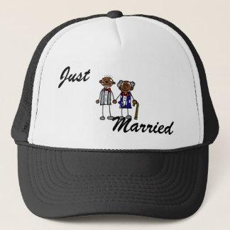 Old Black Gay Couple Trucker Hat