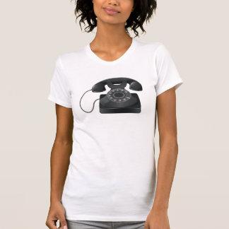 Old Black Phone Womens T-Shirt