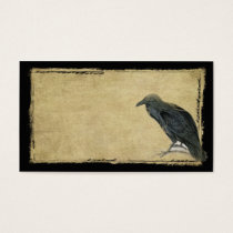 Old Black Raven- Prim Grungy Biz Card