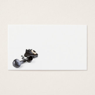Old Black Telephone With Rotary Dial Business Card