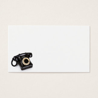 Old Black Vintage Telephone With Rotary Dial 2 Business Card