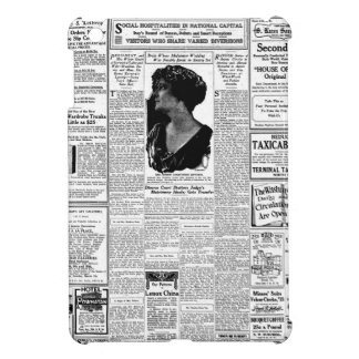 Old black & white newspaper, vintage retro advert case for the iPad mini