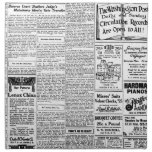 Old black & white newspaper, vintage retro advert cloth napkin