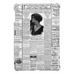 Old black & white newspaper, vintage retro advert cover for the iPad mini