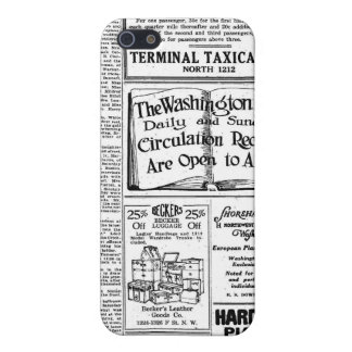 Old black & white newspaper, vintage retro advert covers for iPhone 5