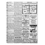 Old black & white newspaper, vintage retro advert spiral note books