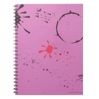 Old Blotting Paper Spiral Notebook