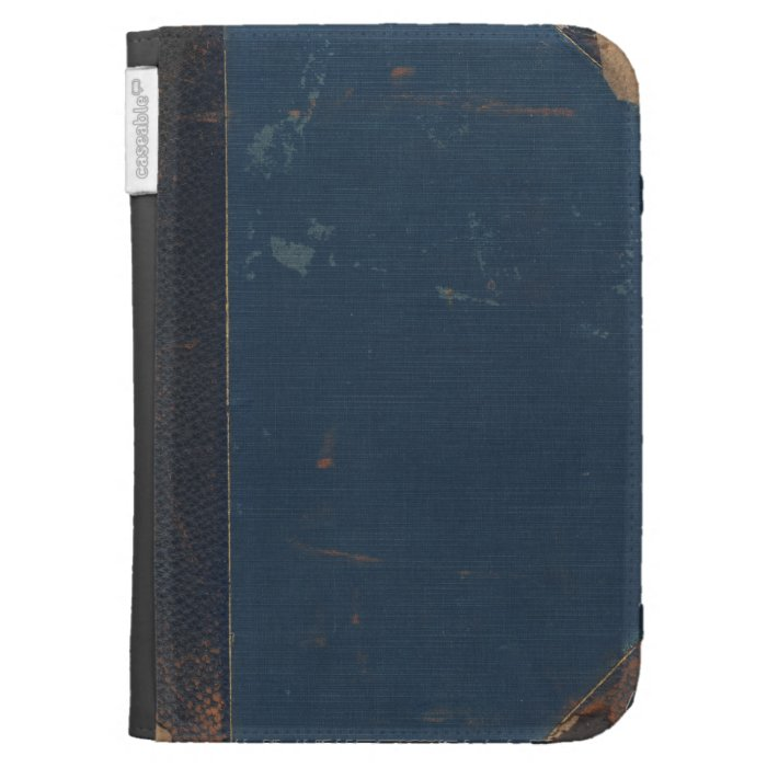 Old Fashioned Book Kindle Cover : Old blue book cover with battered edges kindle case zazzle