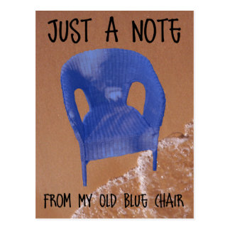 Old Blue Chair Postcard