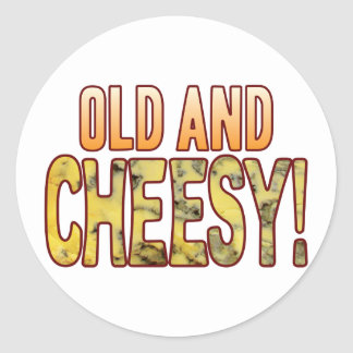 Old Blue Cheesy Classic Round Sticker