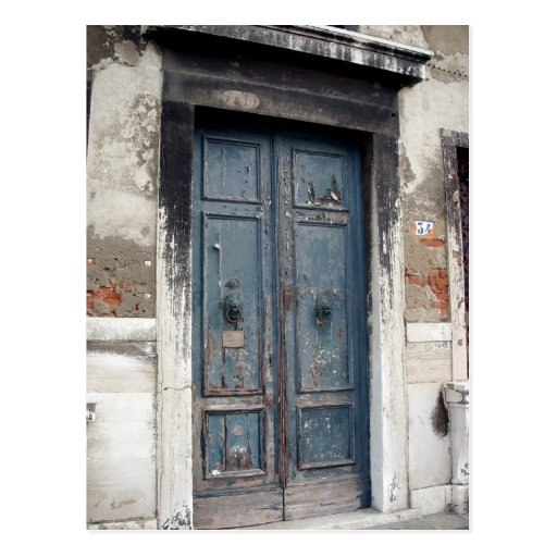 old blue door postcards