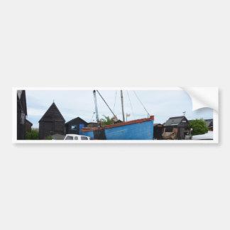 Old Blue Fishing Smack Bumper Sticker