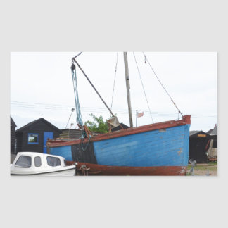 Old Blue Fishing Smack Rectangular Sticker