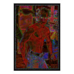 Old Blue Jeans Modern Male Art Poster
