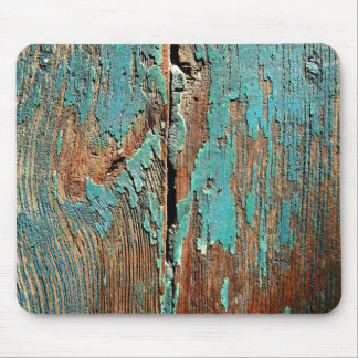Old blue paint on wood mousepads