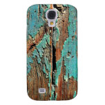 Old blue paint on wood samsung galaxy s4 covers