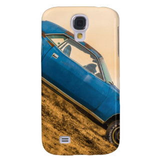 Old Blue Plymouth Barracuda Galaxy S4 Cover