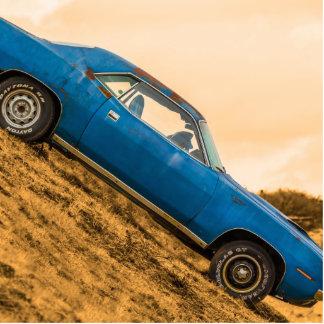 Old Blue Plymouth Barracuda Photo Cutout
