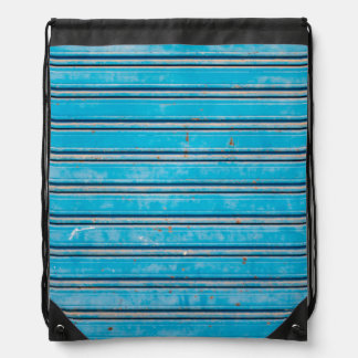 Old Blue Shutters Drawstring Bag