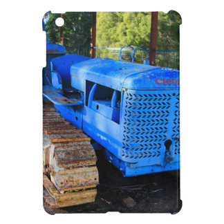 Old blue tractor and crawler case for the iPad mini