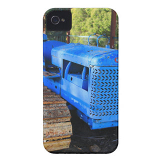 Old blue tractor and crawler Case-Mate iPhone 4 case