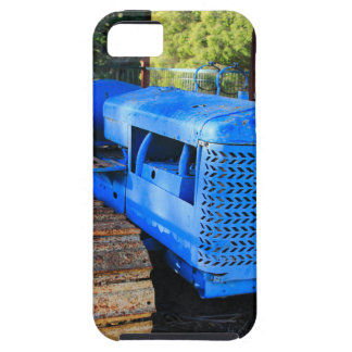 Old blue tractor and crawler iPhone SE/5/5s case