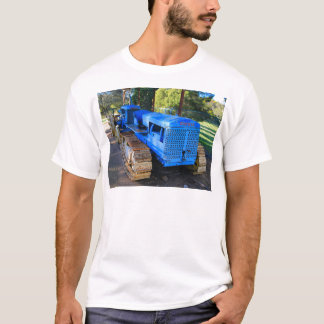 Old blue tractor and crawler T-Shirt