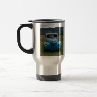 Old Blue Trck with antiquish paint Travel Mug