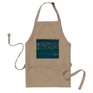 Old blue wood apron