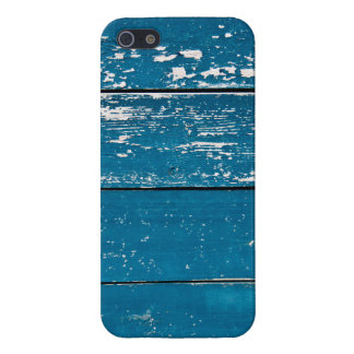 Old blue wood cover for iPhone 5/5S