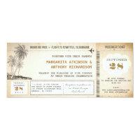 old boarding pass flight wedding invitations (<em>$2.57</em>)