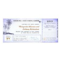old boarding pass flight wedding invites with RSVP (<em>$2.57</em>)