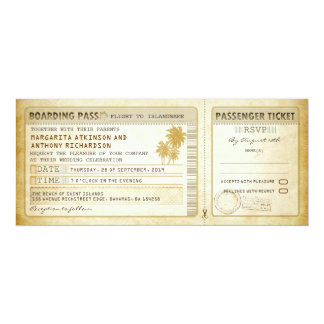 old boarding pass wedding tickets-invites & rsvp card