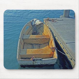 old boat at sea mouse pad