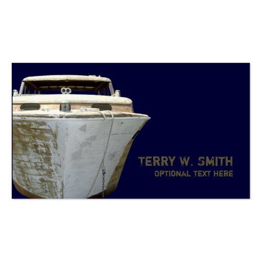 Old boat business card zazzle for Boat business cards