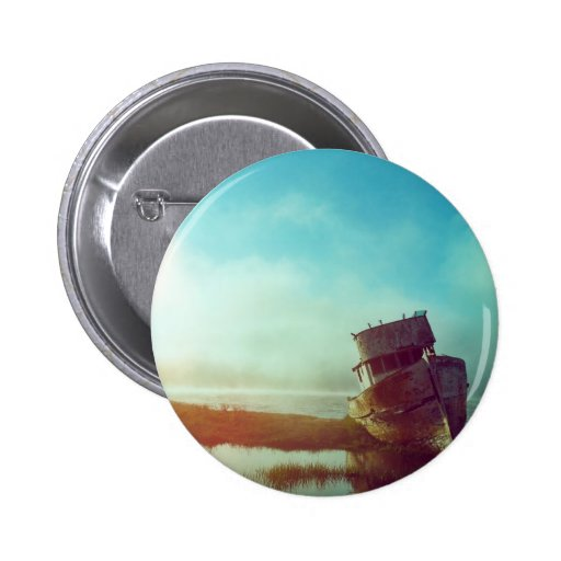 Old Boat Pinback Button