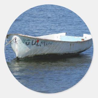 Old Boat Classic Round Sticker