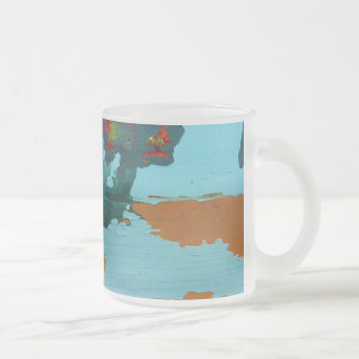 Old Boat Frosted Glass Coffee Mug