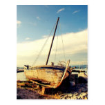 Old boat. post card