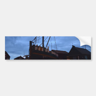 Old Boats Ashore At Southwold Bumper Sticker