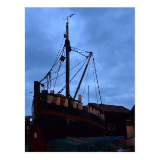 Old Boats Ashore At Southwold Postcard