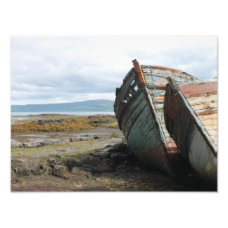 Old boats on a Scottish beach on the Isle of Skye Photo