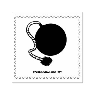 OLD BOMB SELF-INKING STAMP