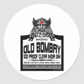Old Bombay Gin Classic Round Sticker