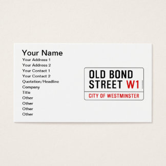 Old Bond Street Business Card