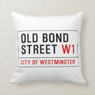 Old Bond Street Throw Pillow
