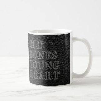 Old Bones Young Heart Coffee Mug